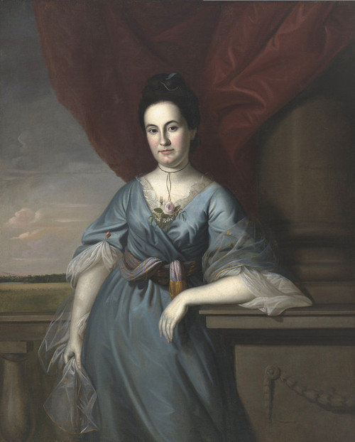Art Prints of Mrs. Benjamin Harrison by Charles Willson Peale