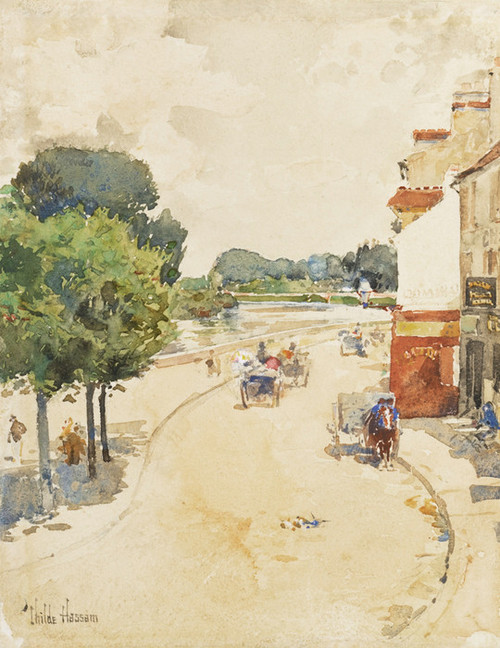 Art Prints of Along the Seine, Bougival by Childe Hassam