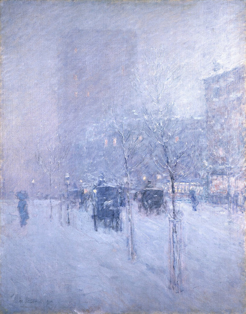 Art Prints of Late Afternoon, New York Winter by Childe Hassam