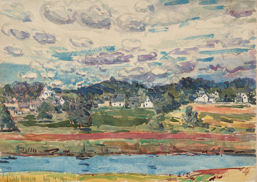 Art Prints of Newfields, New Hampshire by Childe Hassam