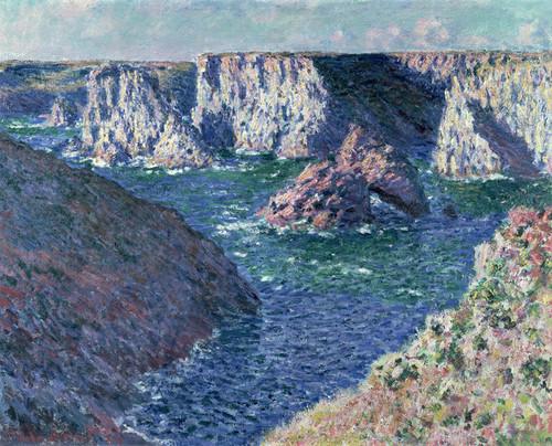 Art Prints of Rocks at Belle-ile by Claude Monet