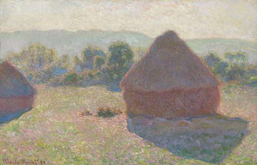 Art Prints of Haystacks, Midday by Claude Monet