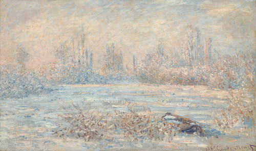 Art Prints of Le Givre or Frost 1880 by Claude Monet