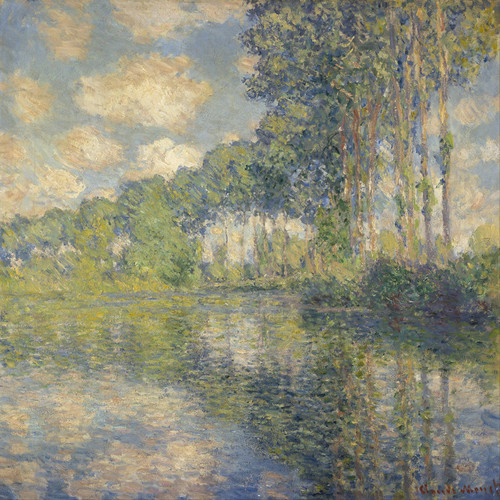 Art Prints of Poplars on the Epte by Claude Monet
