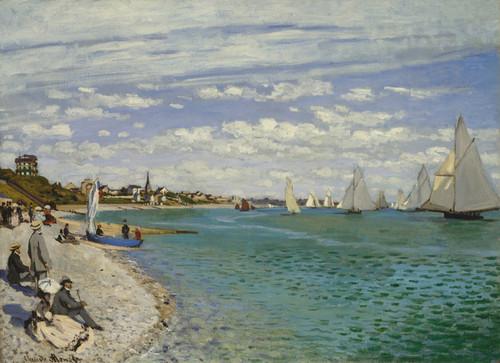 Art Prints of Regatta at Sainte Adresse by Claude Monet