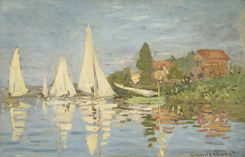 Art Prints of Regattas at Argenteuil by Claude Monet