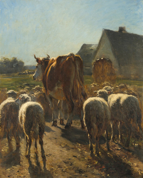 Art Prints of Return of the Herd by Constant Troyon
