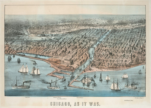 Art Prints of Chicago As It Was by Currier & Ives