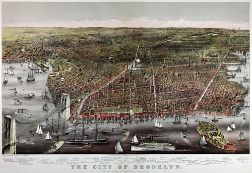 Art Prints of City of Brooklyn by Currier & Ives