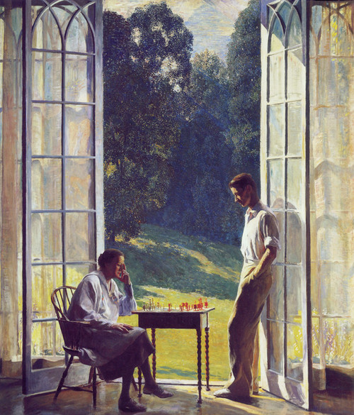 Art Prints of Mother and Son by Daniel Garber