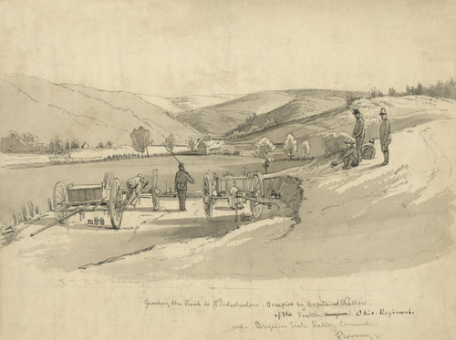 Art Prints of Guarding the Road to Windchester, Jan. 1862 (22598L) by E. M. Bott