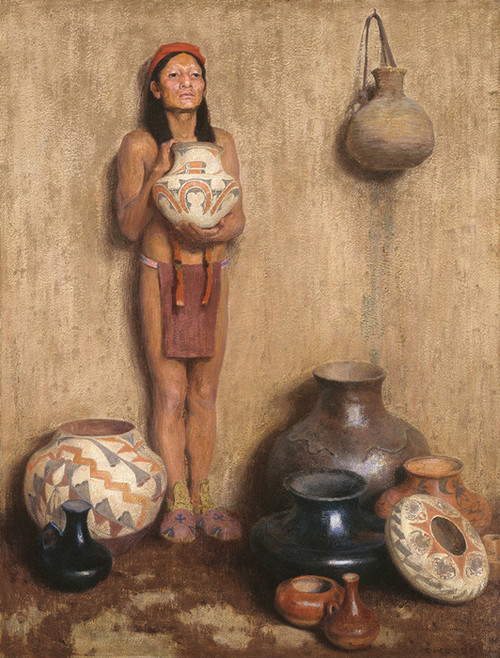Art Prints of Pottery Vendor by Eanger Irving Couse