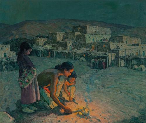 Art Prints of Moonlight Pueblo de Taos by Eanger Irving Couse