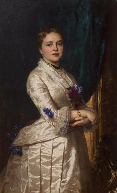 Art Prints of Portrait of a Woman by Eastman Johnson