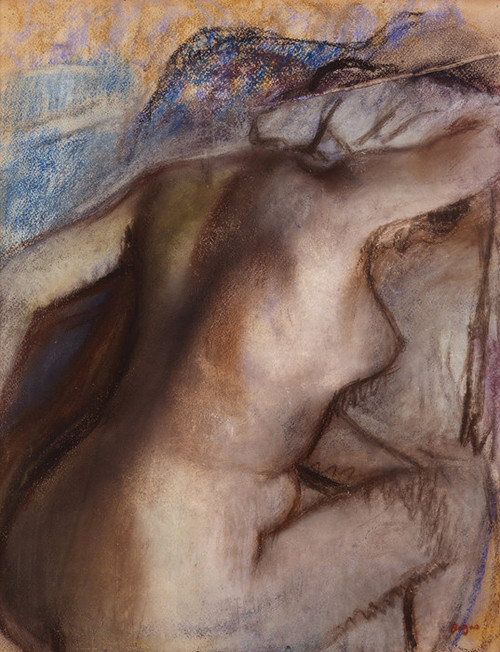 Art Prints of After the Bath, Woman Drying Herself II by Edgar Degas