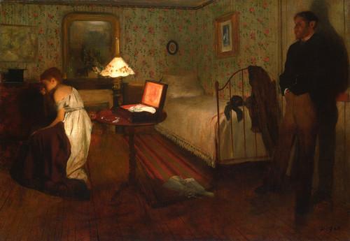 Art Prints of Interior or The Rape by Edgar Degas