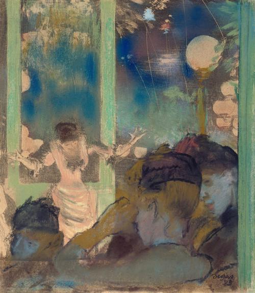 Art Prints of Mademoiselle Becat at the Cafe des Ambassadeurs by Edgar Degas