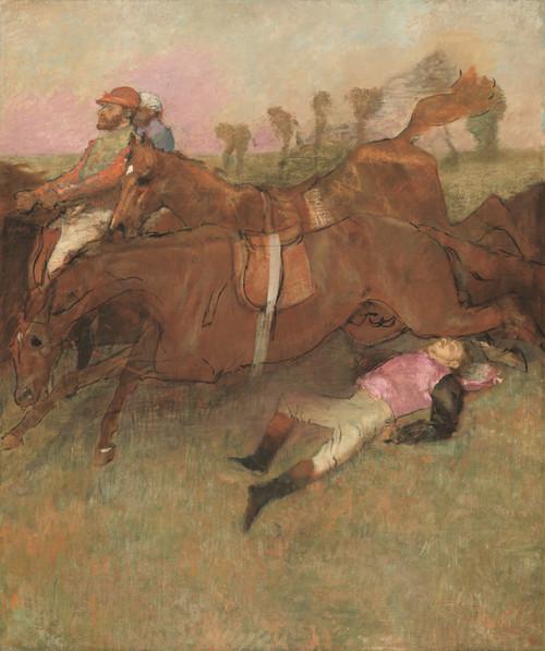 Art Prints of Scene from the Steeplechase, the Fallen Jockey by Edgar Degas