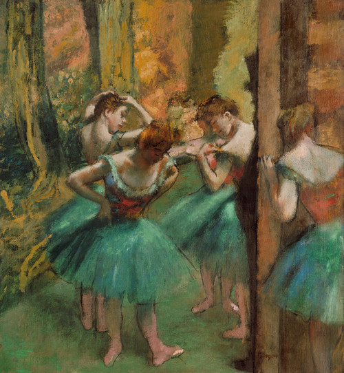 Art Prints of Dancers, Pink and Green by Edgar Degas