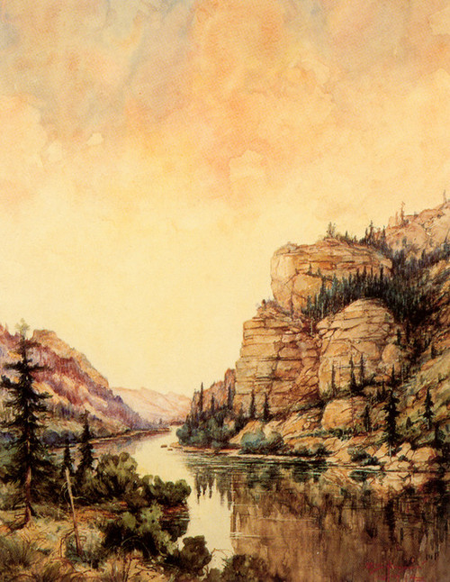 Art Prints of Gate of the Mountains by Edgar Paxson