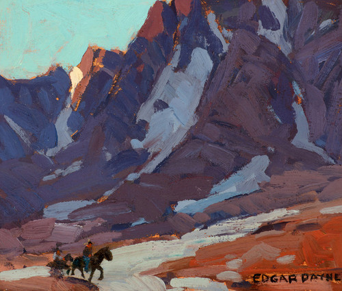 Art Prints of Clouded Slopes with Riders, High Sierra by Edgar Payne