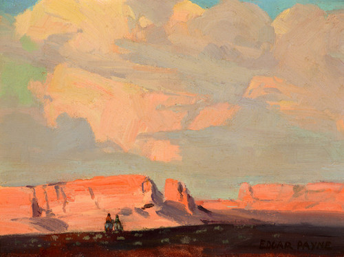 Art Prints of Into the Sunset by Edgar Payne