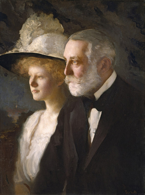 Art Prints of Henry Clay and Helen Frick by Edmund Charles Tarbell