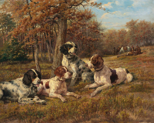 Art Prints of Setters at Rest by Edmund Henry Osthaus