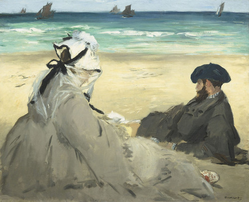Art Prints of On the Beach by Edouard Manet