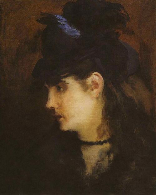 Art Prints of Portrait of Berthe Morisot by Edouard Manet