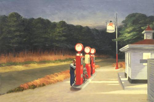Gas by Edward Hopper   Fine Art Print