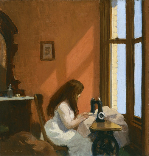 Art Prints of Girl at a Sewing Machine by Edward Hopper