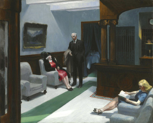 Art Prints of Hotel Lobby by Edward Hopper
