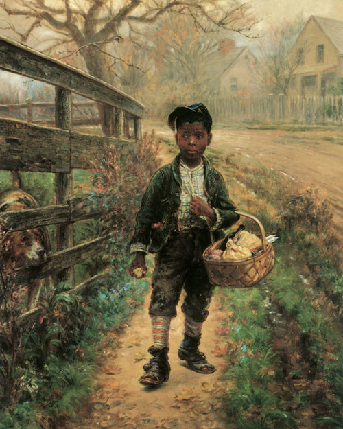 Art Prints of Protecting the Groceries by Edward Lamson Henry