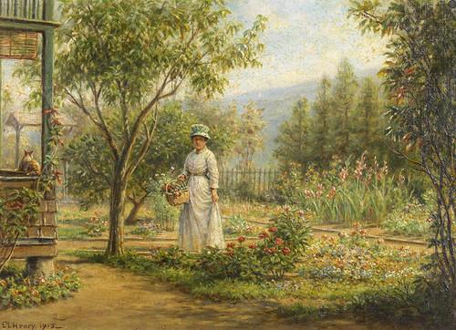 Art Prints of Gathering Flowers by Edward Lamson Henry
