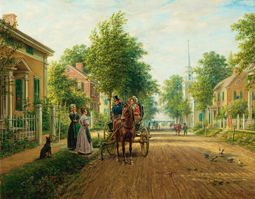 Art Prints of On the Way to Town by Edward Lamson Henry