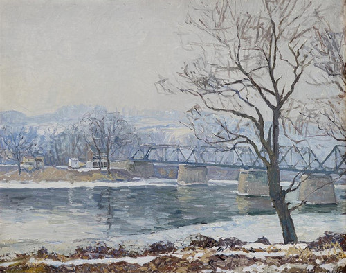 Art Prints of Center Bridge by Edward Redfield