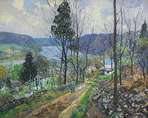 Art Prints of Road to the River by Edward Redfield
