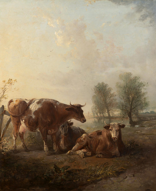Art Prints of Cattle in a Landscape by Edward Robert Smythe