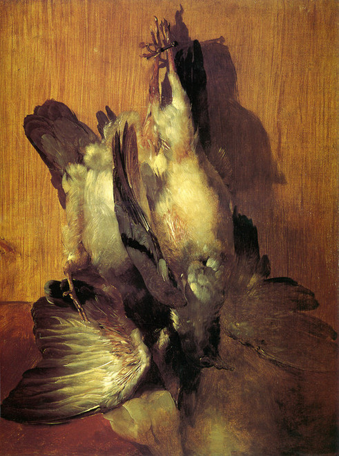 Art Prints of Pigeons Hanging in a Game Larder by Edwin Henry Landseer