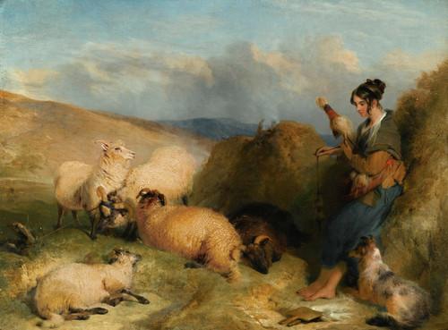 Art Prints of Lassie Herding Sheep by Edwin Henry Landseer