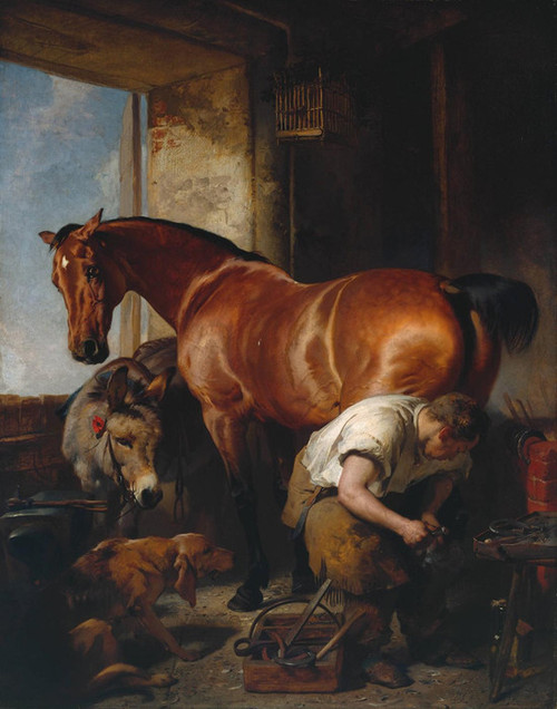 Art Prints of Shoeing by Edwin Henry Landseer