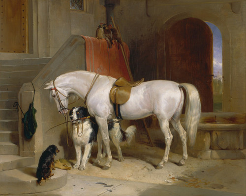Art Prints of Favourites, Pets of Prince George of Cambridge by Edwin Henry Landseer