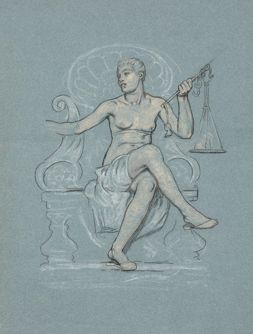 Art Prints of Allegorical Figure of Corrupt Legislation with Scale (23103L) by Elihu Vedder