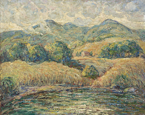 Art Prints of Clouds Over Hills, New England by Ernest Lawson