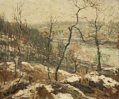Art Prints of Landscape near the Harlem River by Ernest Lawson