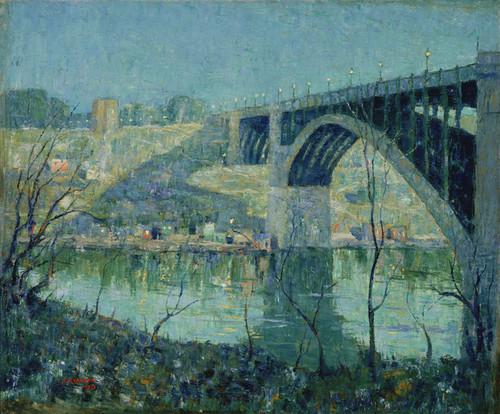 Art Prints of Spring Night, Harlem River by Ernest Lawson