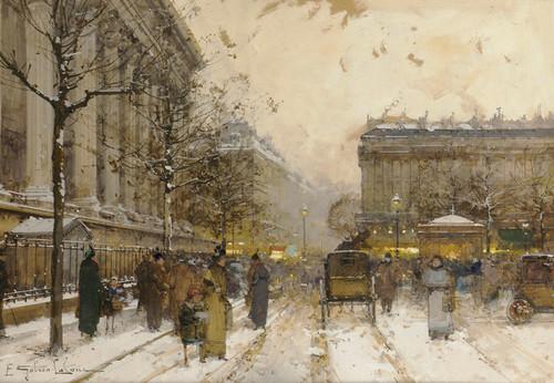 Art Prints of Place de la Madeleine, Paris by Eugene Galien-Laloue