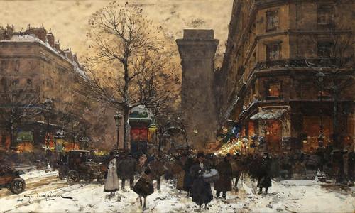 Art Prints of Paris, Porte Saint Martin by Eugene Galien-Laloue