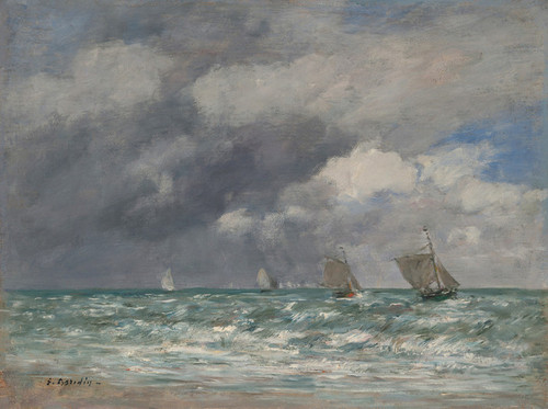 Art Prints of Boats at Trouville by Eugene Boudin